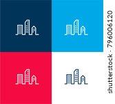 modern city buildings four...