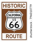 route 66 old history traffic... | Shutterstock .eps vector #796010779
