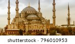 exterior view of blue mosque on ... | Shutterstock . vector #796010953