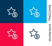 5 stars sign four color...