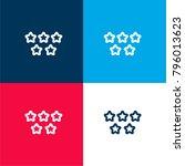 five stars quality symbol four...