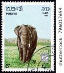 laos   circa 1987  a stamp...   Shutterstock . vector #796017694