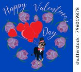 happy valentine's day greeting... | Shutterstock .eps vector #796019878