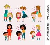 valentines day vector loving... | Shutterstock .eps vector #796020508
