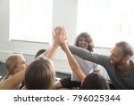 group of young sporty people...   Shutterstock . vector #796025344