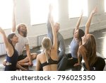 group of young sporty people... | Shutterstock . vector #796025350
