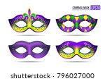 Set Of Mardi Gras Masks...