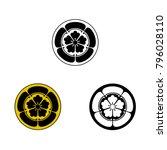 oda samurai crest. vector... | Shutterstock .eps vector #796028110