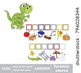 educational puzzle game for... | Shutterstock .eps vector #796028344