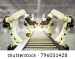 iot industry 4.0 technology... | Shutterstock . vector #796031428