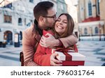 valentine's day. young man... | Shutterstock . vector #796031764