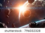 deep space  beauty of endless... | Shutterstock . vector #796032328