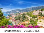 beautiful coast of french... | Shutterstock . vector #796032466