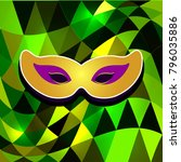 mardi gras carnival distortion... | Shutterstock .eps vector #796035886