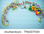 colorful birthday or carnival... | Shutterstock . vector #796037434