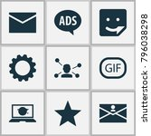 media icons set with gif... | Shutterstock .eps vector #796038298