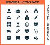 drug icons set with drug ... | Shutterstock . vector #796038439