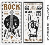 rock music festival two... | Shutterstock .eps vector #796039246