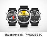 sport smartwatch for runners  ... | Shutterstock .eps vector #796039960