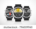 sport smartwatch for runners  ... | Shutterstock .eps vector #796039960