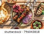 shish kebab or shashlik ...   Shutterstock . vector #796043818