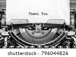 Vintage Typewriter On White...