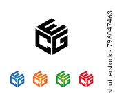 ecg egc ceg cge gce gec letters ...   Shutterstock .eps vector #796047463