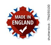 made in england label... | Shutterstock .eps vector #796050100