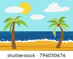 cartoon nature landscape with...   Shutterstock .eps vector #796050676