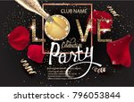 valentines day celebration... | Shutterstock .eps vector #796053844