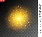 light effect of a star ... | Shutterstock .eps vector #796054240