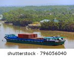 self propelled barges are used... | Shutterstock . vector #796056040