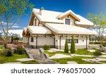 3d rendering of modern cozy... | Shutterstock . vector #796057000