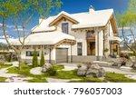 3d rendering of modern cozy... | Shutterstock . vector #796057003