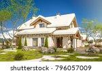 3d rendering of modern cozy... | Shutterstock . vector #796057009