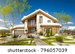 3d rendering of modern cozy... | Shutterstock . vector #796057039