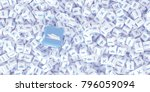 a lot of scattered cubes with... | Shutterstock . vector #796059094