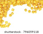 a lot of scattered cubes with... | Shutterstock . vector #796059118