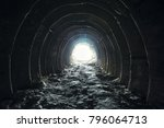 light and exit in the end of... | Shutterstock . vector #796064713