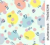 trendy modern seamless pattern... | Shutterstock .eps vector #796065298