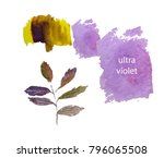 set of ultra violet and yellow... | Shutterstock .eps vector #796065508