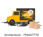 delivery services. delivery... | Shutterstock .eps vector #796067770