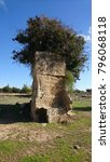 Small photo of Vestigial Rock in Kato Paphos Tombs of Kings Site, Cyprus