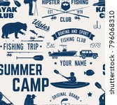 canoe  kayak and fishing club... | Shutterstock .eps vector #796068310