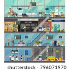 indoor view on international... | Shutterstock .eps vector #796071970