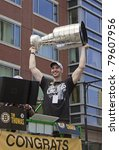 Small photo of BOSTON, MA, USA - JUNE 18: Zdeno Chara celebrates the Stanley cup victory at the Boston Bruins parade after winning the cup for the first time in 39 years, June 18, 2011 in Boston, MA, United States