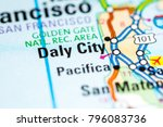 daly city. california. usa on a ... | Shutterstock . vector #796083736