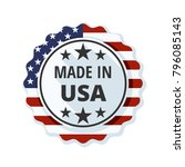 made in usa label  illustration | Shutterstock .eps vector #796085143