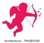 love symbol eros silhouette.... | Shutterstock .eps vector #796085200