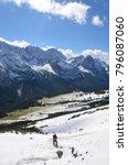 mountain landscape  hiking alps | Shutterstock . vector #796087060